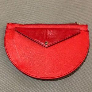 Banana Republic Half Moon Clutch/Wallet Red